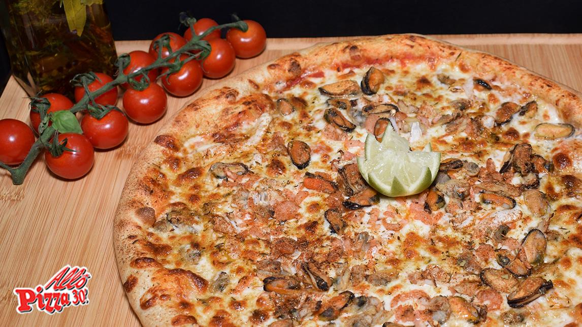 la pizza La Frutti di Mare