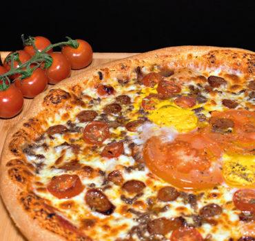 La pizza spicy