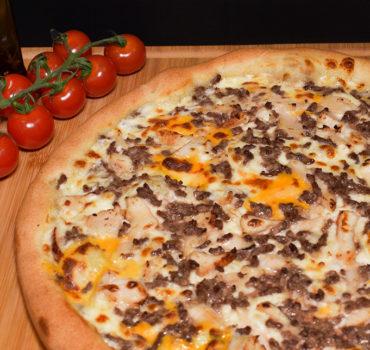 La pizza cheddar